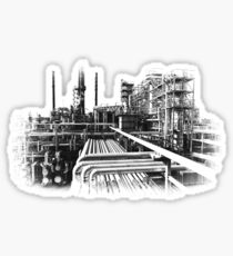 Old Refinery Industry Vintage Style T-Shirt Sticker