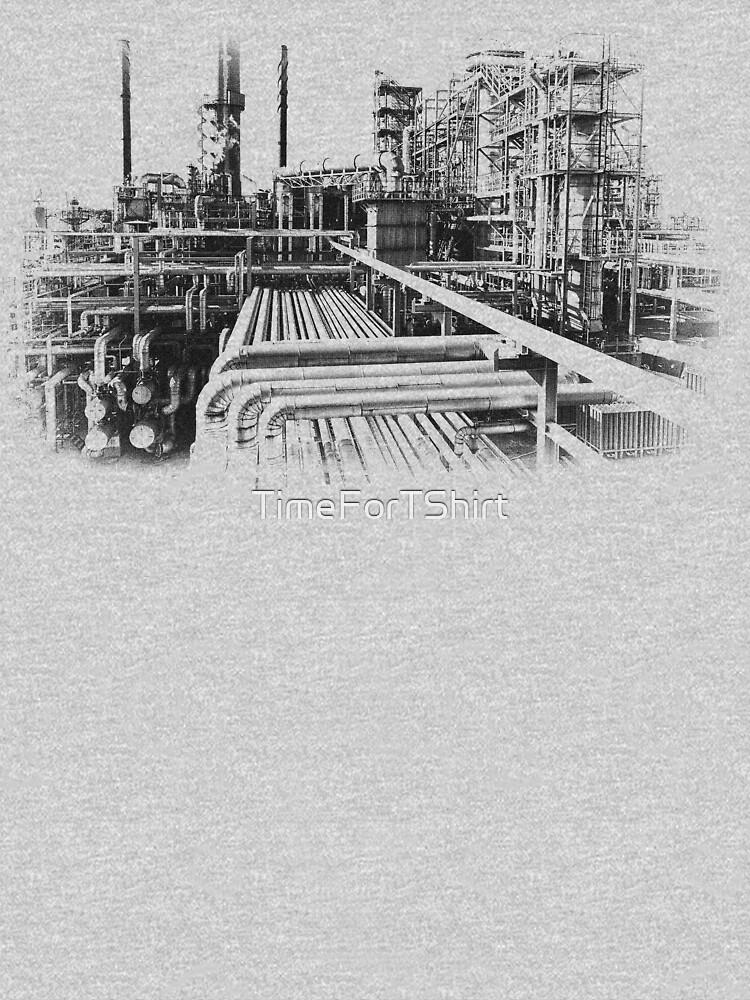 Altes Raffinerie-Industrie-Weinlese-Art-T-Shirt von TimeForTShirt
