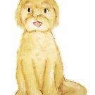 Watercolor Goldendoodle- Basic by Kristina S