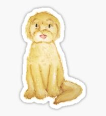 Watercolor Goldendoodle- Basic Sticker