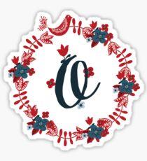 Scandinavian Monogram O Sticker