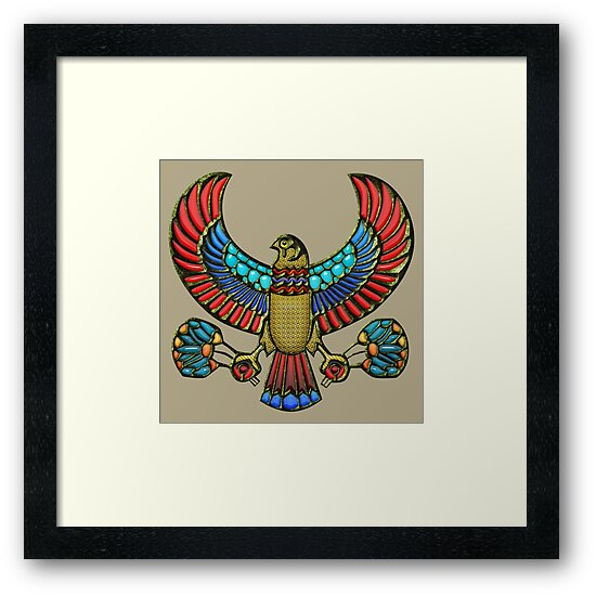 Sacred Egyptian Falcon Framed Prints By Serge Averbukh Redbubble