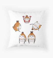 Paissa Brats and Doll Throw Pillow