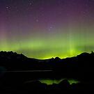 Aurora Borealis over Aialik Bay, Kenai Fjords Alaska by Allyeska