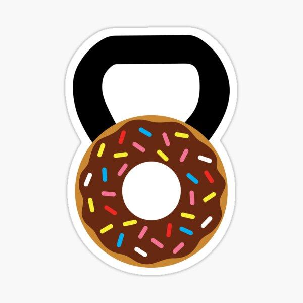 Kettlebell Donut Pegatina