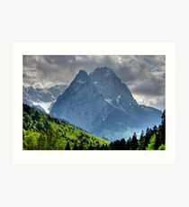Mountain Zugspitze. Germany. Art Print