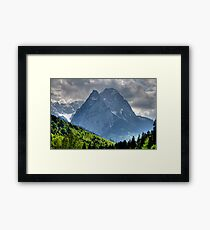 Mountain Zugspitze. Germany. Framed Print
