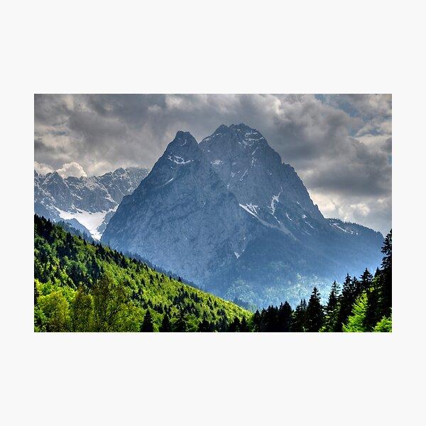 Mountain Zugspitze. Germany. Photographic Print