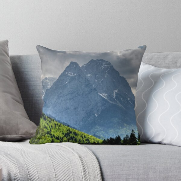 Mountain Zugspitze. Germany. Throw Pillow