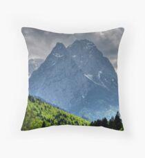 Mountain Zugspitze. Germany. Throw Pillow