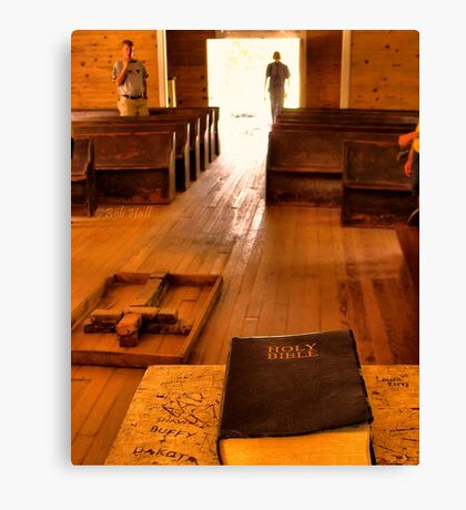 """""""Cades Cove Missionary Baptist Church: Interior Design""""... prints and products Canvas Print"""