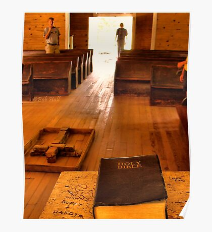"""""""Cades Cove Missionary Baptist Church: Interior Design""""... prints and products Poster"""