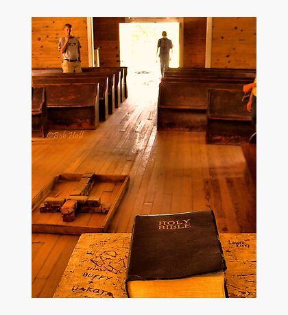 """""""Cades Cove Missionary Baptist Church: Interior Design""""... prints and products Photographic Print"""