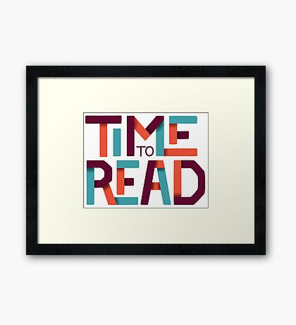 Time to Read Framed Print
