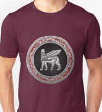 Winged Bull Lamassu [Silver] Unisex T-Shirt