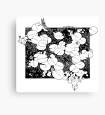 Lily Pad Drawing Canvas Prints  Redbubble