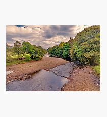 River Swale in Autumn Photographic Print