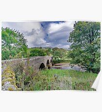 Swaledale Packhorse Bridge Poster