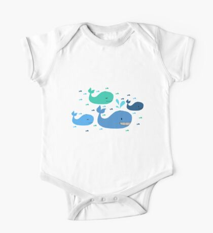 Whale, Whale, Whale One Piece - Short Sleeve