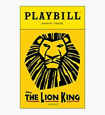 The Lion King Playbill Photographic Print