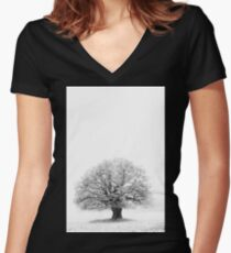Pale Tree Women's Fitted V-Neck T-Shirt