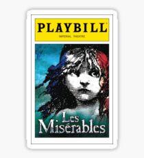 Les Miserables Playbill Sticker