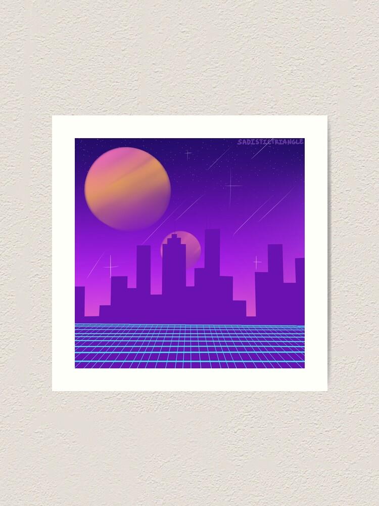 Vaporwave City Art Print By Fudgebiskets Redbubble