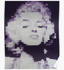 Pixelated Purple Marilyn Monroe Painting Poster