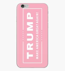 Preppy Pink Trump Make America Great iPhone Case