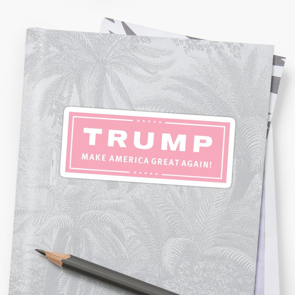 «Preppy Pink Trump Make America Great» de Royal Sass