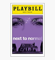 Next To Normal Playbill Photographic Print