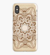 Ornamental round pattern iPhone Case