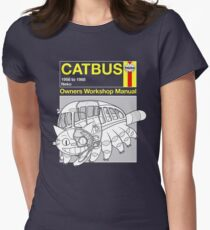 Catbus Manual Womens Fitted T-Shirt
