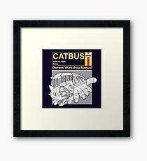 Catbus Manual Framed Print