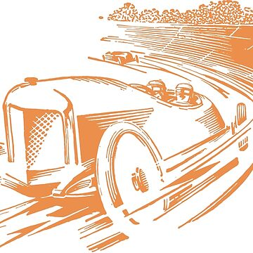 Vintage Racecar - Antique Brown by cartoon
