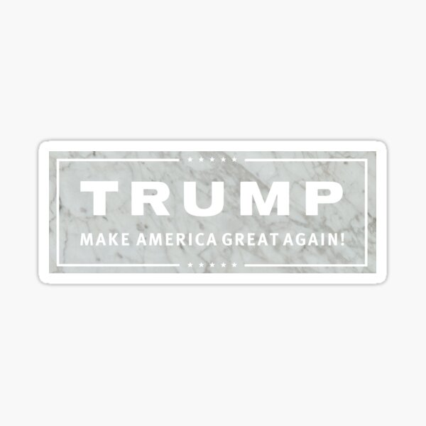 Marble Trump sticker Sticker