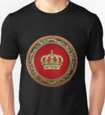Prince-Princess King-Queen Crown [Gold] Unisex T-Shirt
