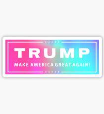 Pegatina Logotipo holográfico de Trump