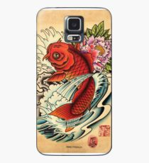 Koi with Peony Case/Skin for Samsung Galaxy