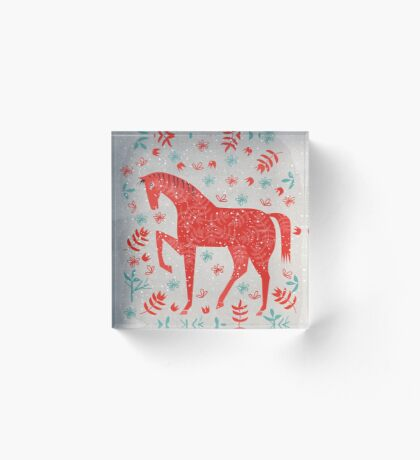 The Red Horse Acrylic Block