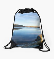 Tranquil resevoir Drawstring Bag