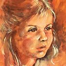 Portrait of a little Girl by Roz McQuillan