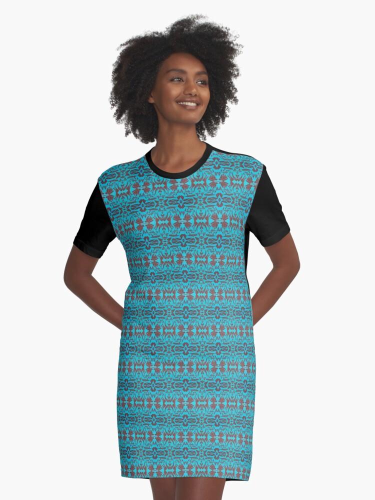 Moujon Mandala #2 Graphic T-Shirt Dress Front
