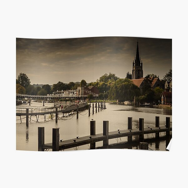 Marlow and River Thames Poster