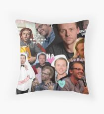 Simon Pegg Collage Throw Pillow