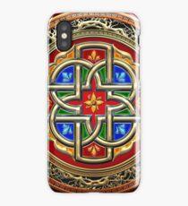 Treasure Trove: Celtic Cross [Gold+Red+Blue Enamel] iPhone Case/Skin