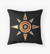 Crest of Courage Throw Pillow
