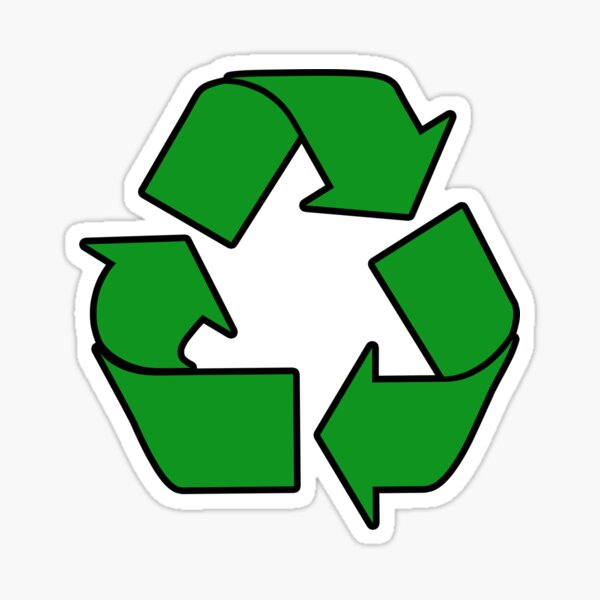 Recycle Sign Stickers, Gifts & Products Sticker