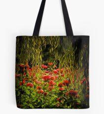 Flowers framed by leaves Tote Bag