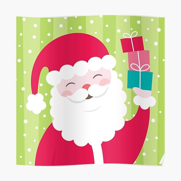 Cheerful Santa Poster